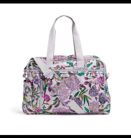 Vera Bradley Lighten Up Weekender Travel Bag Lavender Botanical