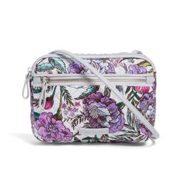 Vera Bradley Iconic RFID Little Crossbody Lavender Meadow