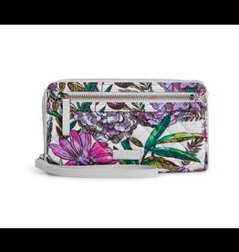 Vera Bradley Iconic RFID Front Zip Wristlet Lavender Meadow
