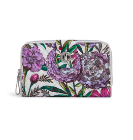 Vera Bradley Iconic RFID Turnlock Wallet Lavender Meadow