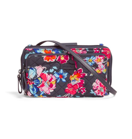 Vera Bradley Iconic Deluxe All Together Crossbody Pretty Posies