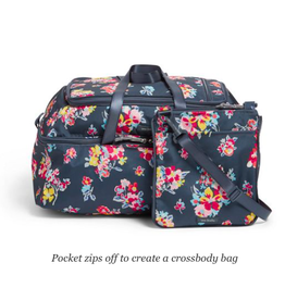 Vera Bradley Lighten Up Convertible Travel Bag Tossed Posies