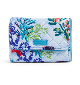 Vera Bradley Iconic RFID Riley Compact Wallet Shore Thing