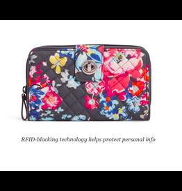 Vera Bradley Iconic RFID Turnlock Wallet Pretty Posies