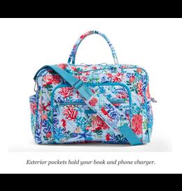 Vera Bradley Iconic Weekender Travel Bag Shore Thing
