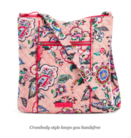 Vera Bradley Iconic Hipster Stitched Flowers