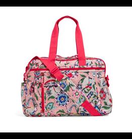 Vera Bradley Lighten Up Weekender Travel Bag Stitched Garden