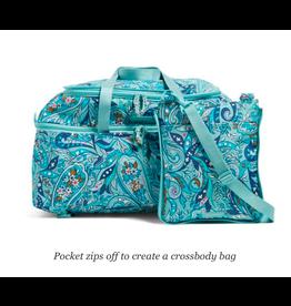 Vera Bradley Lighten Up Convertible Travel Bag Daisy Paisley
