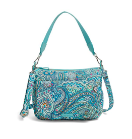 Vera Bradley Carson Shoulder Bag Daisy Dot Paisley