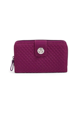 Vera Bradley Iconic RFID Turnlock Wallet Gloxinia Purple