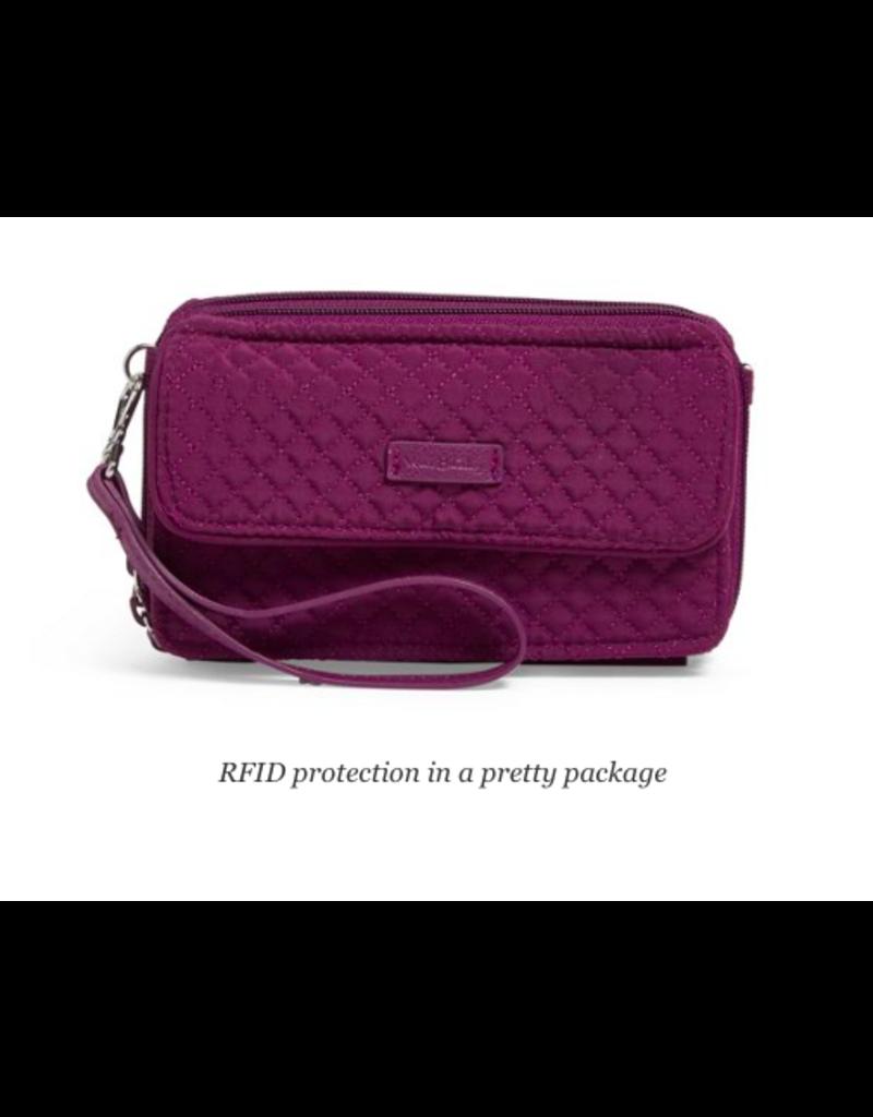 Vera Bradley Iconic RFID All in One Crossbody Gloxinia Purple