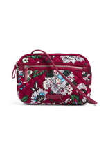Vera Bradley Iconic RFID Little Crossbody Bordeaux Blooms
