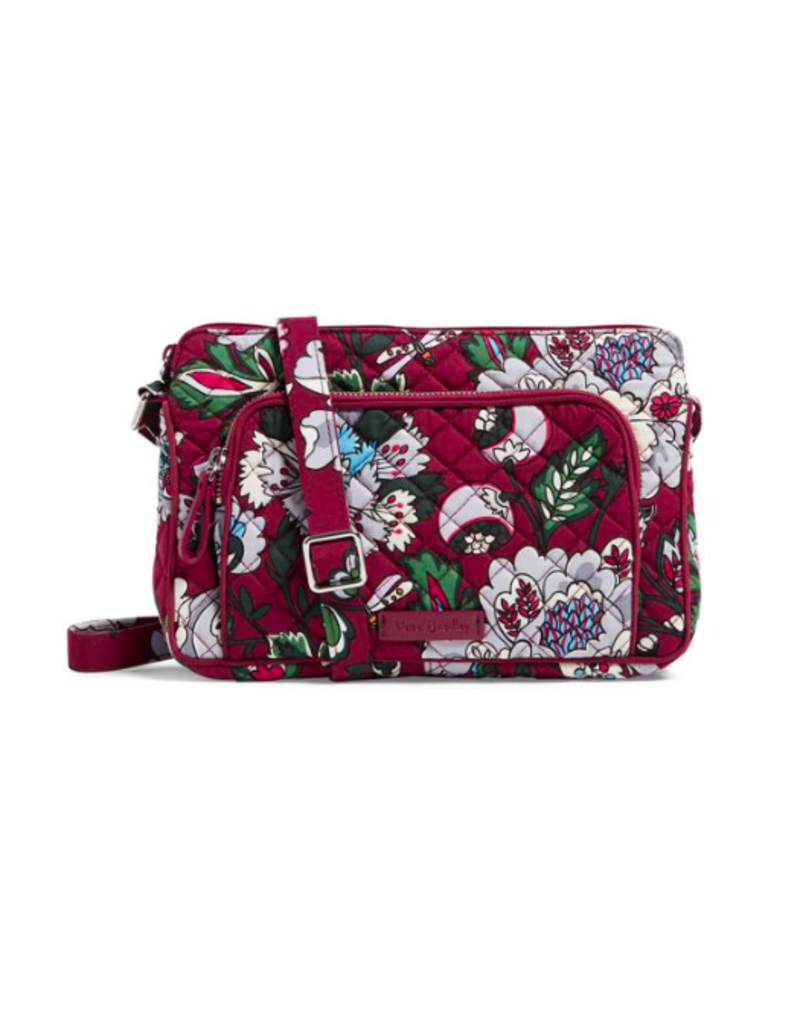 Vera Bradley Iconic RFID Little Hipster Bordeaux Blooms
