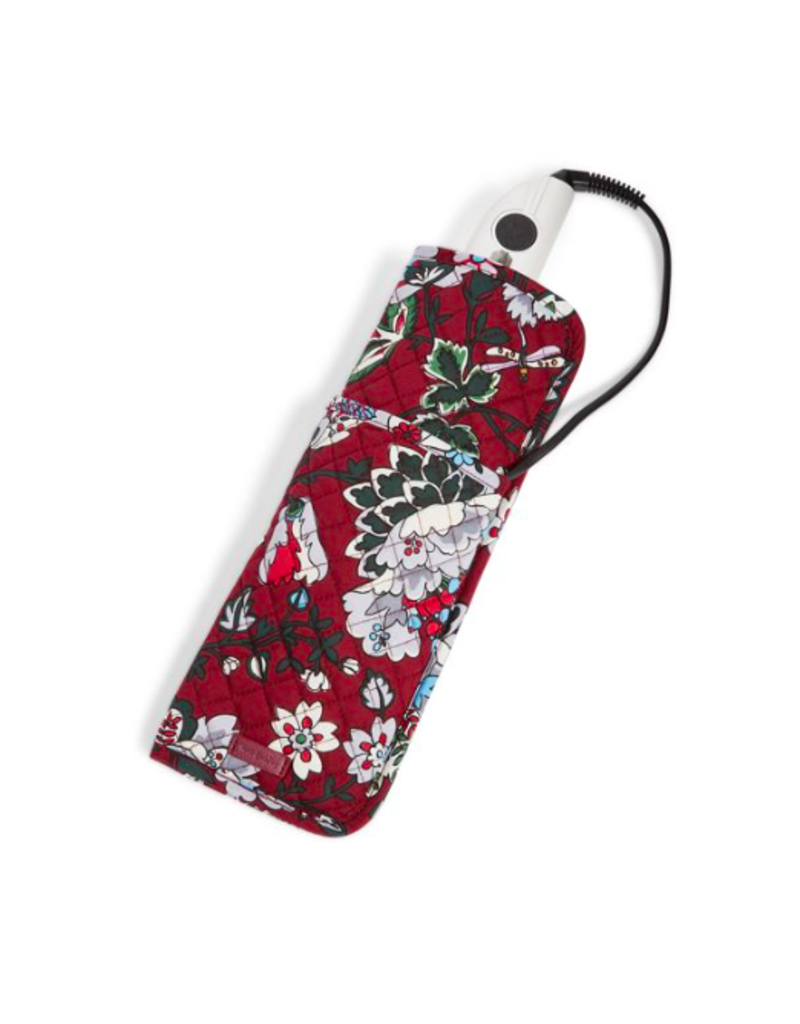Vera Bradley Iconic Curling & Flat Iron Cover Bordeaux Blooms