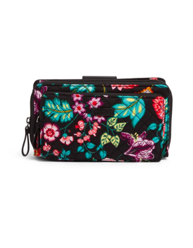 Vera Bradley Iconic Deluxe All Together Crossbody Vines Floral