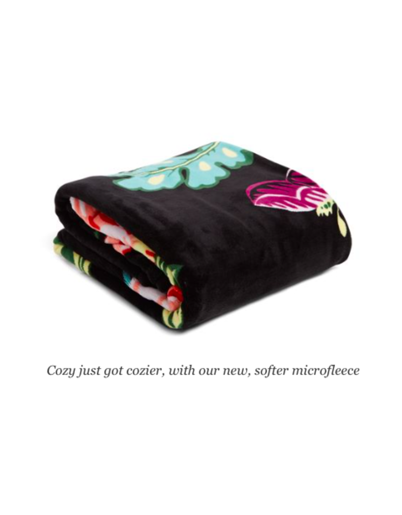 Vera Bradley Plush Throw Blanket Vines Floral