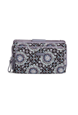 Vera Bradley Iconic Deluxe All Together Crossbody Charcoal Medallion