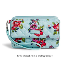 Vera Bradley Iconic RFID All in One Crossbody Water Bouquet