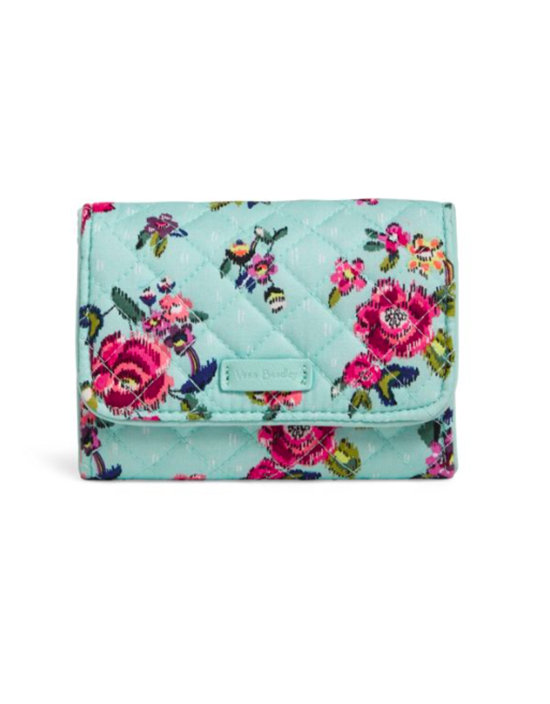 Vera Bradley Iconic RFID Riley Compact Wallet Water Bouquet