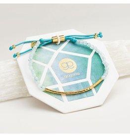 Gorjana Power Gemstone Bracelet, Truth, Aquamarine