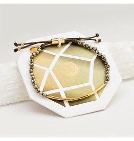 Gorjana Power Gemstone Bracelet, Strength, Pyrite