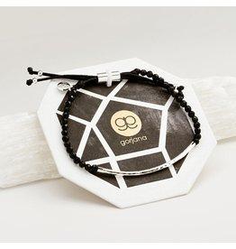 Gorjana Power Gemstone Bracelet, Protection, Black Onyx, Silver
