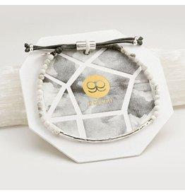 Gorjana Power Gemstone Bracelet, Calming, Howlite, Silver