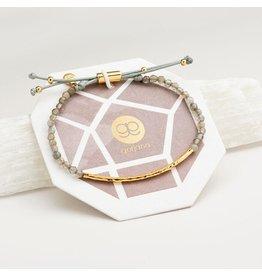 Gorjana Power Gemstone Bracelet, Balance, Labradorite, Gold
