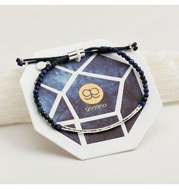 Gorjana Power Gemstone Bracelet, Wisdom, Lapis, Silver