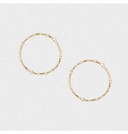 Gorjana Cleo Studs, Gold, White Opalite