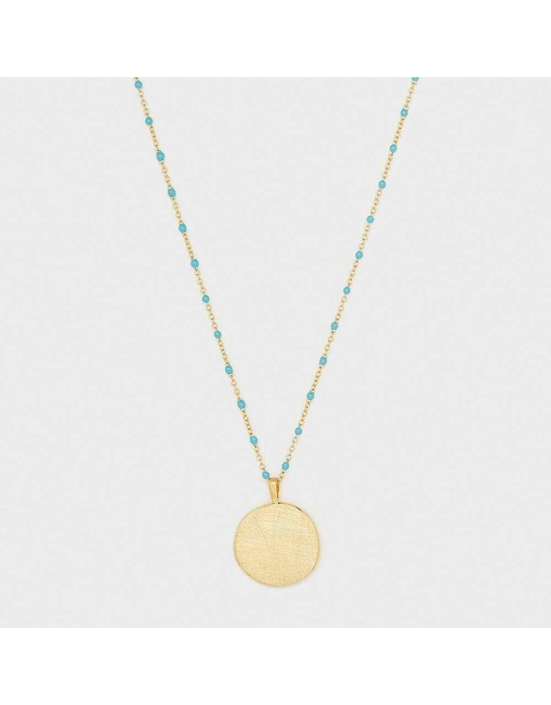 Gorjana Capri Coin Necklace, Gold