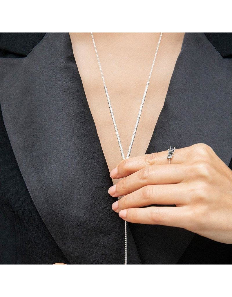 Gorjana Laguna Adjustable Necklace, Silver