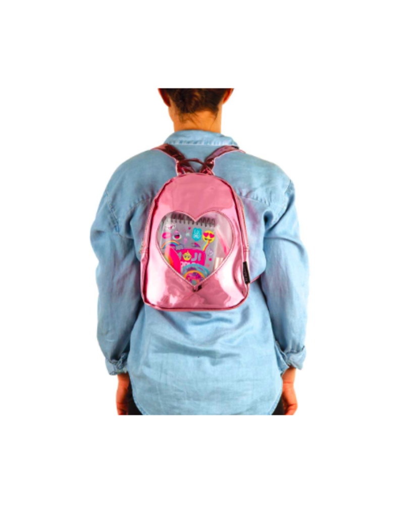 Fashion Angels Enterprises ''ITA'' Collection Mini Backpack-Pink Mirror