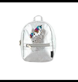 Fashion Angels Enterprises Silver Shimmer Unicorn Micro Mini Backpack/Xbody
