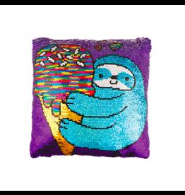 Fashion Angels Enterprises Magic Sequin Reveal Pillow-Sloth