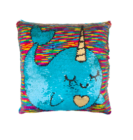 Fashion Angels Enterprises Magic Sequin Reveal Pillow-Narwhal