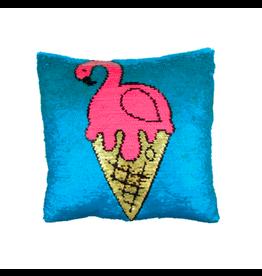Fashion Angels Enterprises Magic Sequin Reveal Pillow-Flamingo