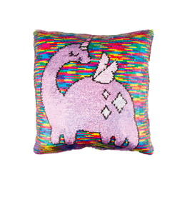 Fashion Angels Enterprises Magic Sequin Reveal Pillow- Dinosaur