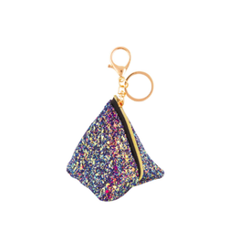 Fashion Angels Enterprises Chunky Glitter Triangle Pouch Bag-Charm Midnight