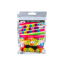 Fashion Angels Enterprises Tell Your Story Alphabet Bead Bag-LG Rainbow Cubes
