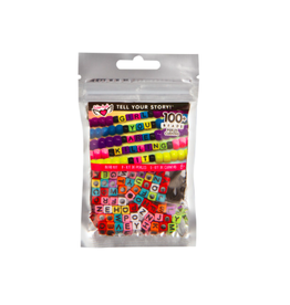 Fashion Angels Enterprises Tell Your Story Alphabet Bead Bag-Rainbow Cubes