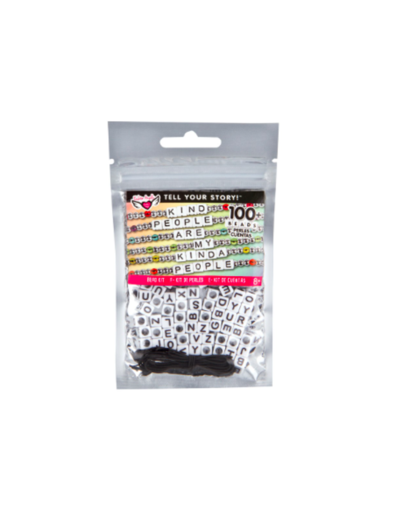 Fashion Angels Enterprises Tell Your Story Alphabet Bead Bag-White Cubes