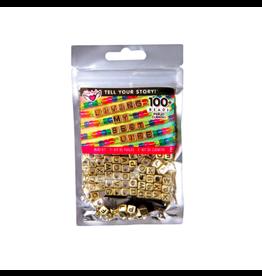 Fashion Angels Enterprises Tell your Story Alphabet bead Bag-Gold Cubes