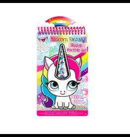 Fashion Angels Enterprises Unicorn Fantasy Compact Sketch Portfolio