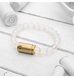Brass & Unity Jewelry Inc. Moonstone Warrior Bracelet, Small