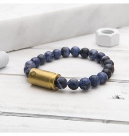 Brass & Unity Jewelry Inc. Sodalite Warrior Bracelet, Small