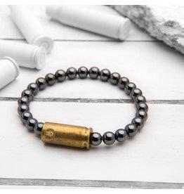 Brass & Unity Jewelry Inc. Mini Warrior Bracelet, Hematite, Small
