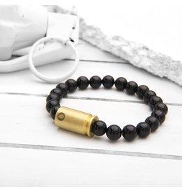 Brass & Unity Jewelry Inc. Black Onyx Warrior Bracelet, Small