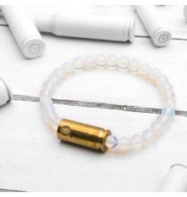 Brass & Unity Jewelry Inc. Mini Warrior Bracelet, Moonstone, Small