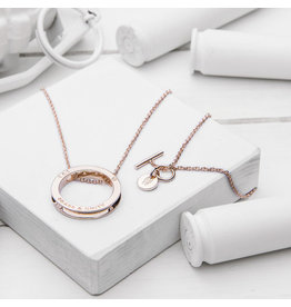 Brass & Unity Jewelry Inc. Unity Necklace Rose Gold, Long